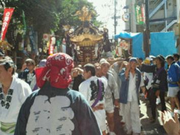 雪ヶ谷八幡神社大祭 希望ヶ丘自治会 町内御輿渡御